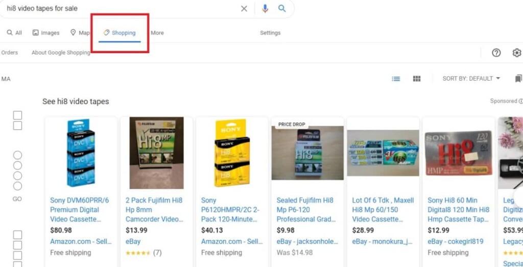 image of google shoppinh